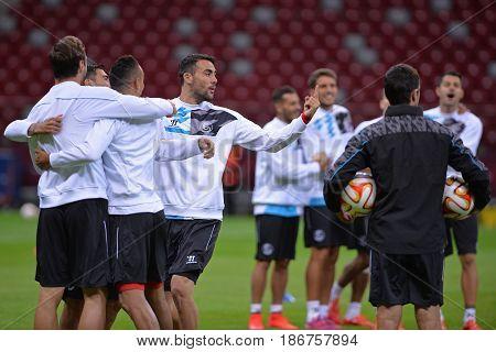 Uefa Europa League 2015 Final: Training Session