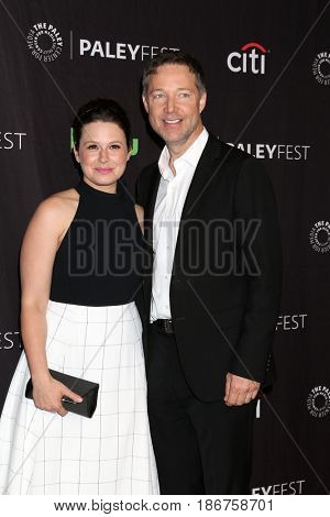 LOS ANGELES - MAR 26:  Katie Lowes, George Newbern at the 34th Annual PaleyFest Los Angeles -