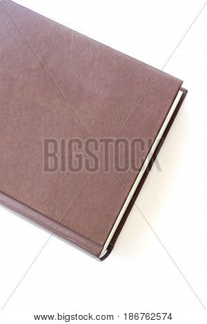 vintage bown book isolated on white background