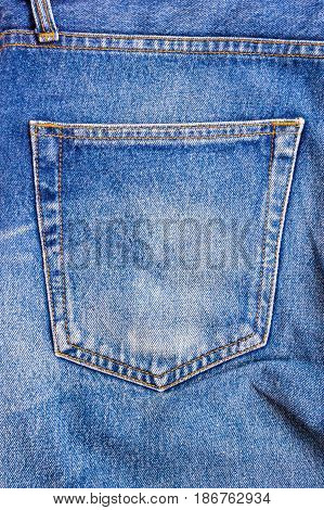 denim blue jean pocket texture is the classic indigo fashion.