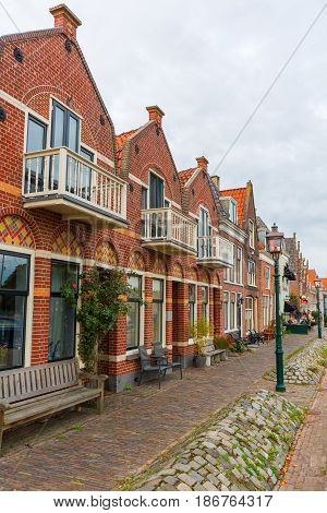 Old Row Houses In Enkhuizen, Netherlands