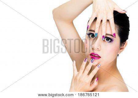 Concept Studio Shot Of Trendy Girl Model