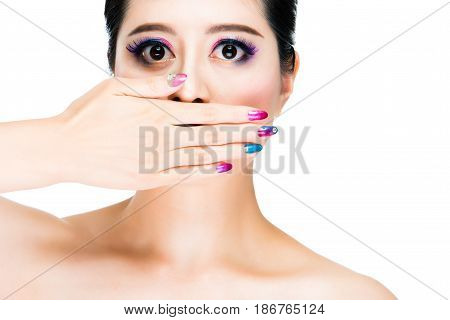 Colorful And Make Up Concept
