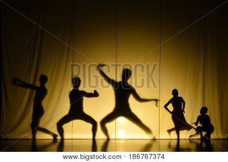 The human shadow performance on big stage