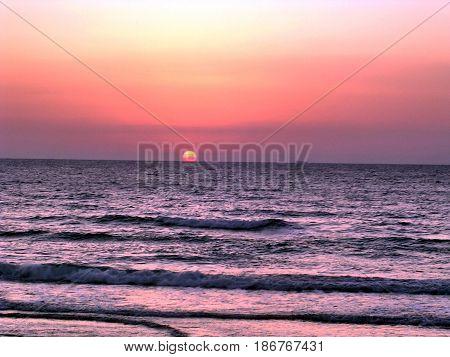 Sunset over the sea in Haifa Israel September 27 2006