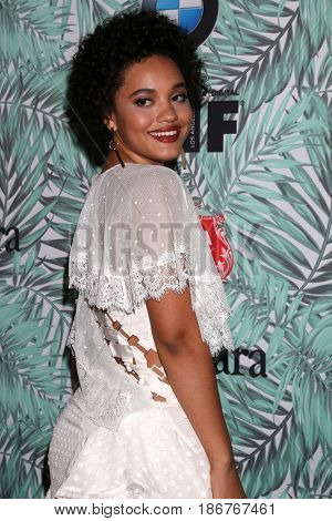 LOS ANGELES - FEB 24:  Kiersey Clemons at the 10th Annual Women in Film Pre-Oscar Cocktail Party at Nightingale Plaza on February 24, 2017 in Los Angeles, CA