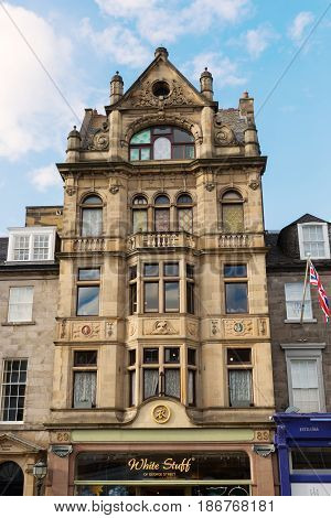 Historical Building In The New Town Of Edinburgh