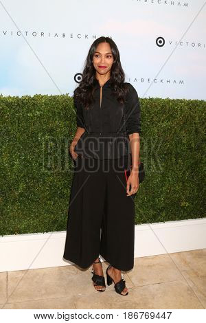 LOS ANGELES - APR 1:  Zoe Saldana at the Victoria Beckham For Target Launch Event at Private Residence on April 1, 2017 in Los Angeles, CA