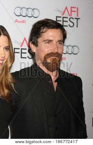 LOS ANGELES - NOV 05:  Christian Bale at the AFI Fest 2015 - Presented by Audi - The Big Short Gala Screening at the TCL Chinese Theater on November 05, 2015 in Los Angeles, CA