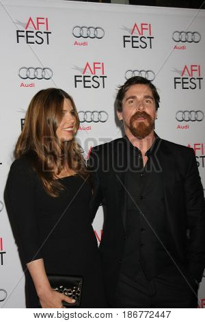 LOS ANGELES - NOV 05:  Sibi Blazic, Christian Bale at the AFI Fest 2015 - Presented by Audi - The Big Short Gala Screening at the TCL Chinese Theater on November 05, 2015 in Los Angeles, CA