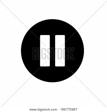 pause button. vector icon in linear style isolated on white. Audio or video icon. eps 10