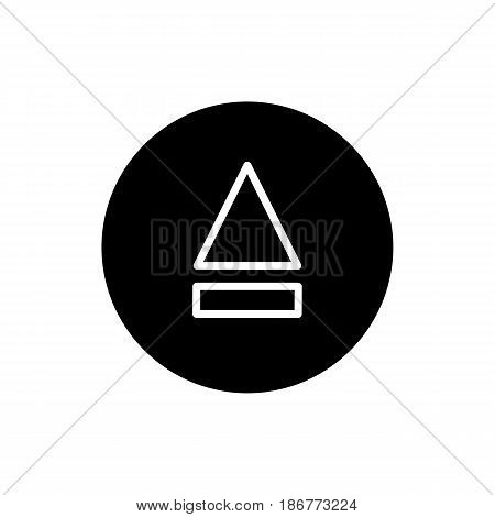 eject button icon. simple solid eject button vector icon. on white background. eps 10