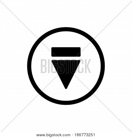 eject button icon. simple outline eject button vector icon. on white background. eps 10