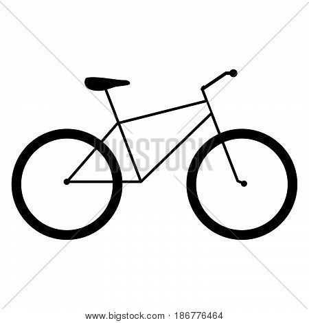 Bycicle The Black Color Icon .
