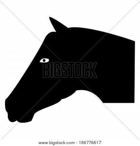 Head Horse The Black Color Icon .