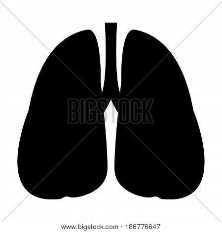 Lungs The Black Color Icon .