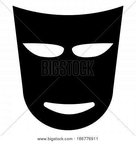 Theatre Mask The Black Color Icon .