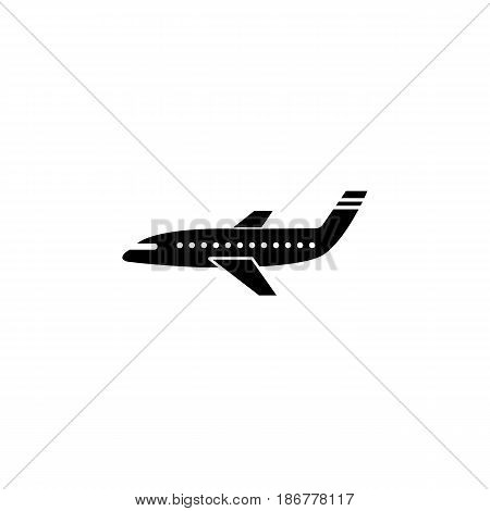 Airplane solid icon, navigation and air transport sign, air fly vector graphics, a filled pattern on a white background, eps 10.