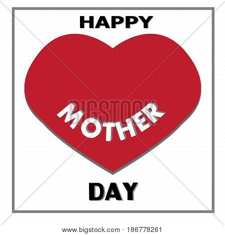 happy mother day isolated on whiter. happy mother day greeting card.