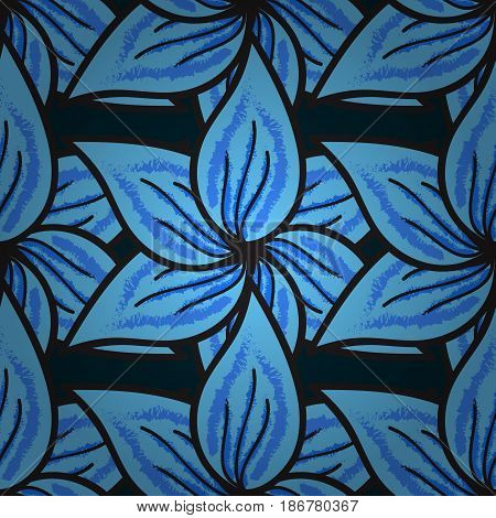 Floral watercolor seamless background. Vector textile print for bed linen jacket package design fabric and fashion concepts. Seamless pattern with blue flowers.