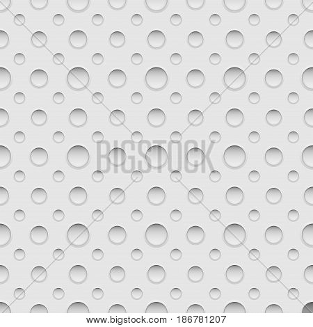 Seamless pattern with holes. Vector background illustration.