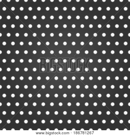 Black pattern with holes. Vector background illustration.