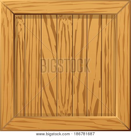 Background imitating the surface of a wooden crate. Vector illustration.