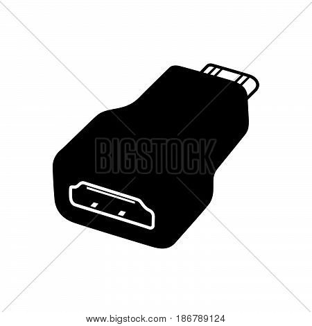 HDMI converter ( shade picture ) on white