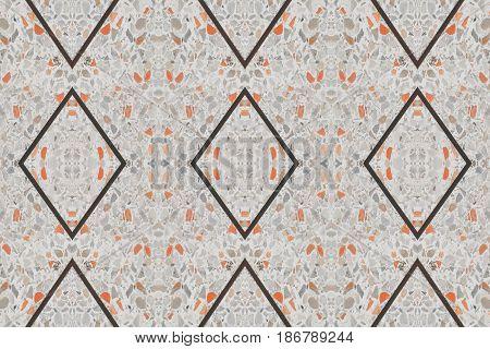 terrazzo floor. small stone orange old texture or marble background