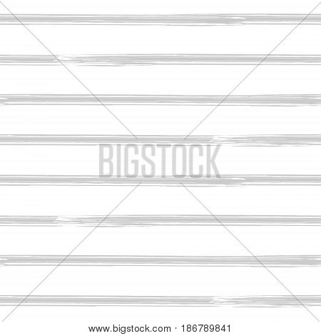 Brushstroke stripes seamless pattern. Seamless vector striped background. Light grey and white background. Painted striped pattern.