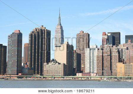 Midtown Manhattan skyline on a Clear Blue day, New York City