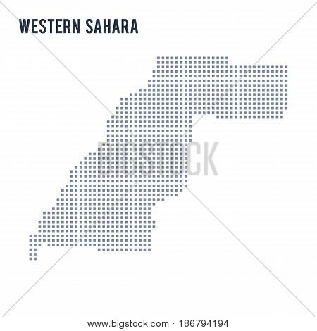 Vector Pixel Map Of Western Sahara Isolated On White Background