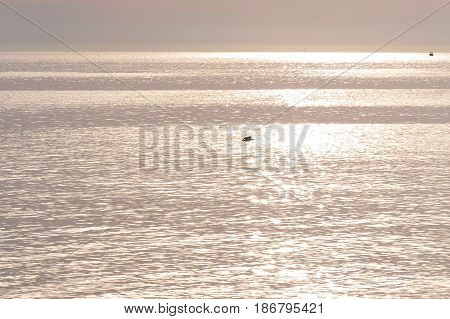Semaphore beach South Australia sunlight sunset light over silver sea