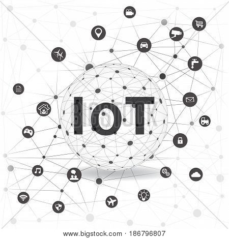 Internet of things concept and Cloud computing technology Internet networking concept. Internet of things cloud with apps..Cloud Apps