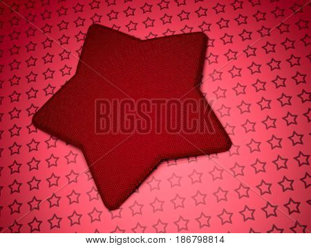 Modern abstract geometrical three-dimensional background with star. 3D rendering.