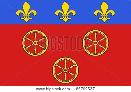 Flag of Rodez is a small city and commune in the South of France