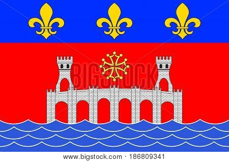 Flag of Villefranche-de-Rouergue is a commune in the Aveyron department in southern France