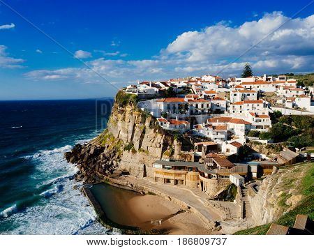 Azenhas do Mar, a beautiful coastal town in the municipality of Sintra, Portugal.