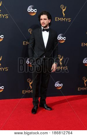 LOS ANGELES - SEP 18:  Kit Harrington at the 2016 Primetime Emmy Awards - Arrivals at the Microsoft Theater on September 18, 2016 in Los Angeles, CA