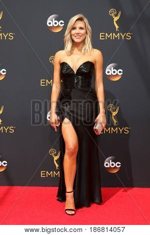 LOS ANGELES - SEP 18:  Charissa Thompson at the 2016 Primetime Emmy Awards - Arrivals at the Microsoft Theater on September 18, 2016 in Los Angeles, CA