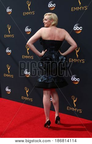 LOS ANGELES - SEP 18:  Gwendoline Christie at the 2016 Primetime Emmy Awards - Arrivals at the Microsoft Theater on September 18, 2016 in Los Angeles, CA