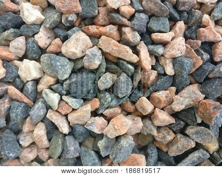 Stone crush of typical stone types found in Finland.