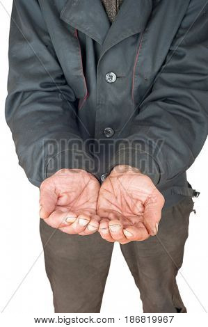 hands of a person begging