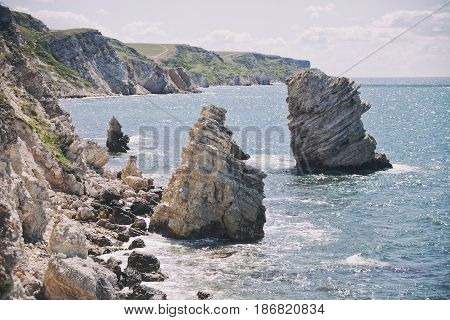Nature Reserve Dzhangul, Crimea. Black Sea Landscape