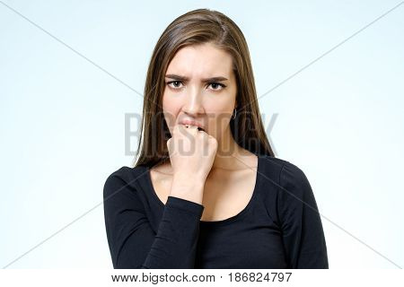 Young Serious Angry Woman Portrait