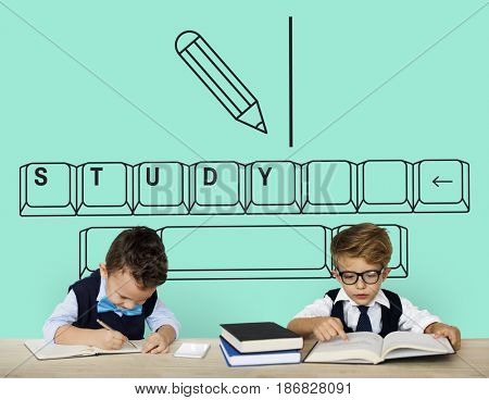 Illustration of insight education keyboard typing