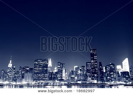 The Empire State Building and New York City skyline at Night