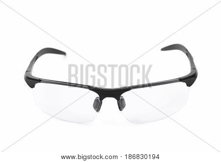 Pair of shade glasses isolated over the white background
