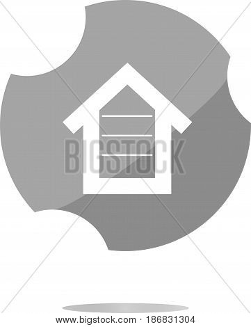 House Button, Button Signs, Web Icon . Trendy Flat Style Sign Isolated On White Background