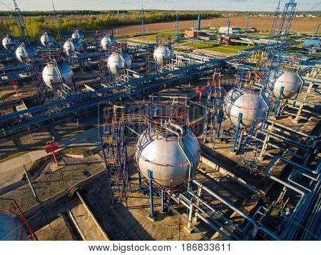 Crude oil storage terminal, pipeline operations, distributes petroleum products. Panorama